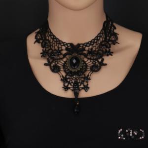 Vintage dámský krajkový náhrdelník