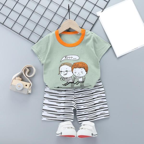 Letní dětská bavlněná souprava trička a šortek