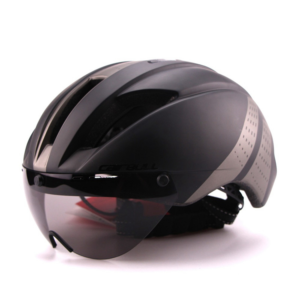 Pánská cyklistická přilba s brýlemi
