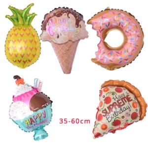 5 ks mini balónků ve tvaru občerstvení