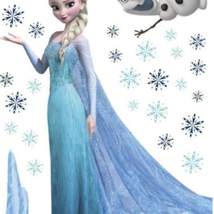 Dětská samolepka na zeď - Elsa Snowflaks