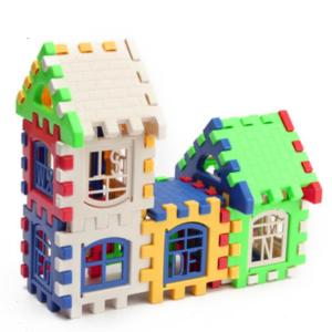 Barevná stavebnice domeček 24 kusů