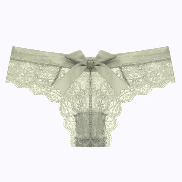 Dámské sexy krajkové kalhotky se saténovou mašlí Angelina
