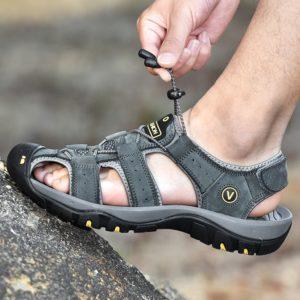 Pánské kožené letní sandále v různých barvách