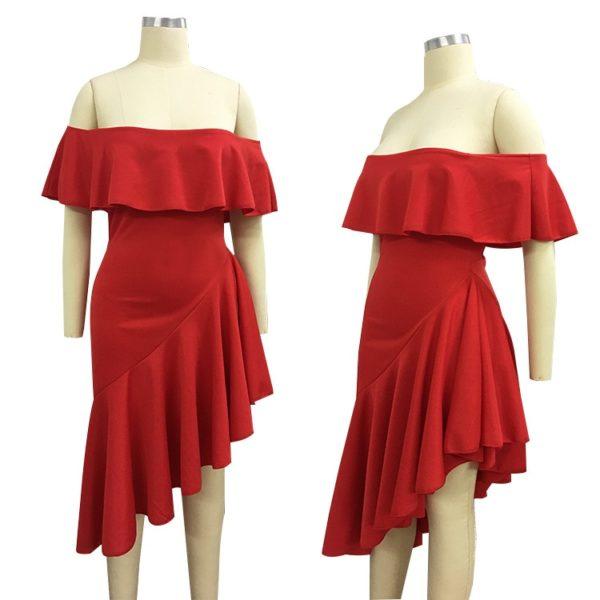 Originalní dámské asimetrické šaty