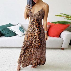 Nádherné dlouhé dámské šaty Leopard Brand