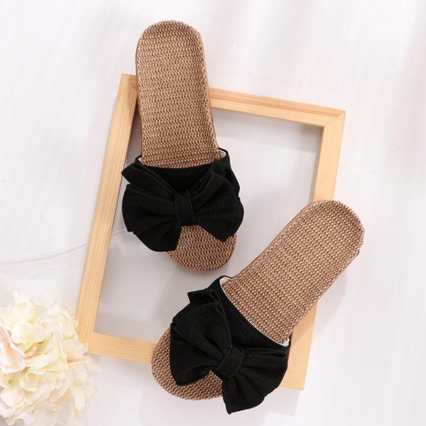 Dámské ležérní pantofle s mašlí