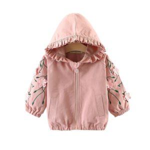 Dětská dívčí jarní bunda s kapucí