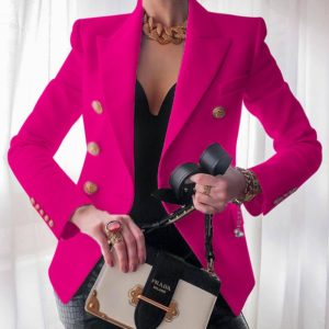 Dámské elegantní sako se zlatými knoflíky Bella