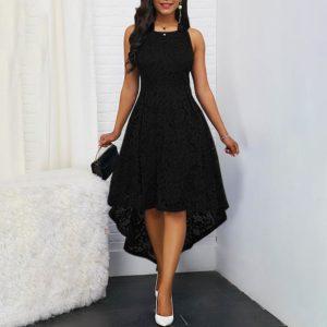 Dámské elegantní šaty s krajkou bez rukávů Ava