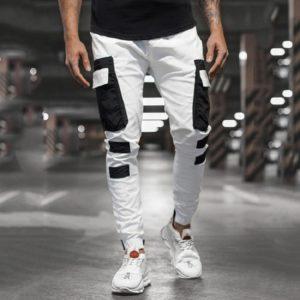 Ležérní panské kalhoty s postranními kapsami