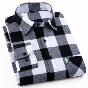 Bavlněná pánská kostkovaná košile Binju