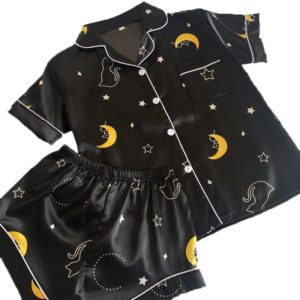 Luxusní set dámského hedvábného pyžama