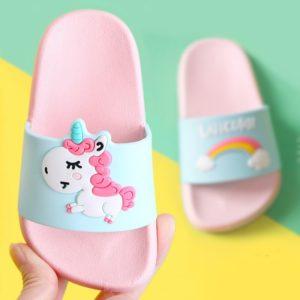 Dětské gumové pantofle s jednorožcem