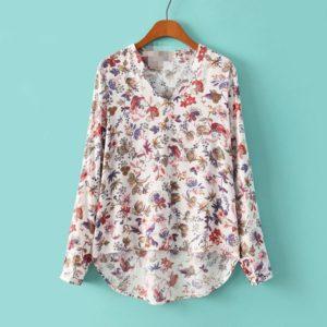 Vintage květinová košile pro ženy