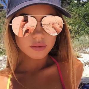 Stylové dámské zrcadlové sluneční brýle