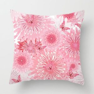 Jarní povlak na polštář s květinami