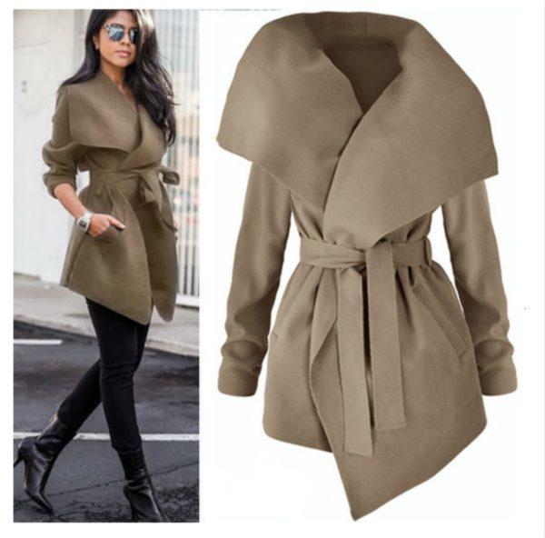 Dámský elegantní zimní kabát Lena