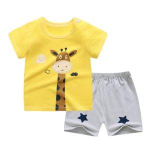 Bavlněný letní dětský set šortek a trička