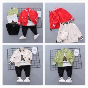 Dětský jarní stylový set bunda a tepláčky