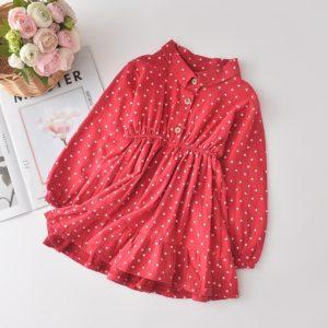 Nádherné dětské šaty s límečkem