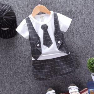 Chlapecký kostkovaný módní set Lowell