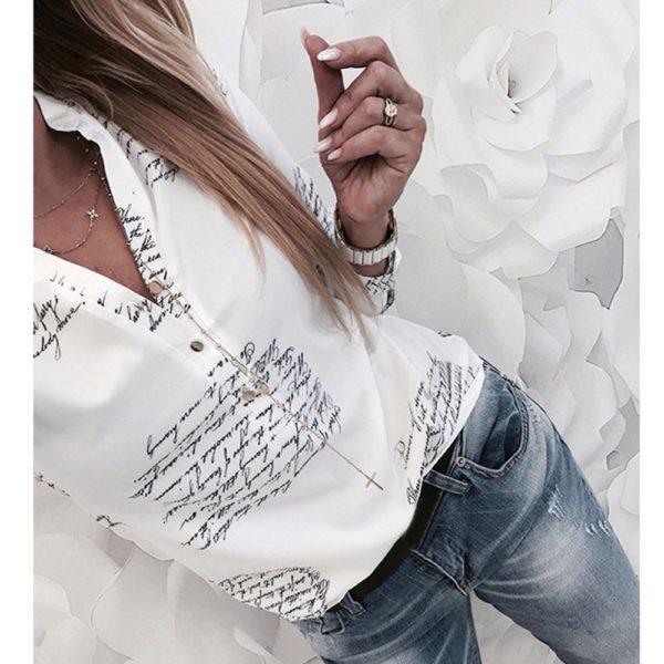 Dámská Fashion košile s popisky