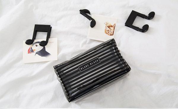 Dámská kosmetická taštička na Make-up s pruhy Blanc