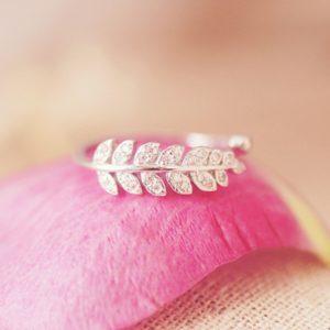 Nádherný dámský stříbrný prsten Feather