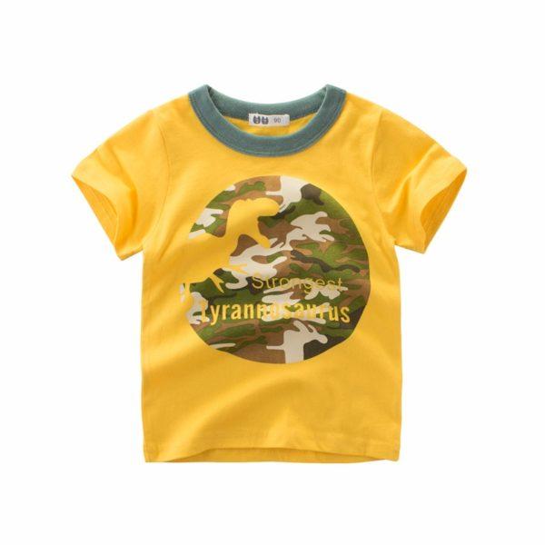 Dětské stylové tričko s roztomilým potiskem Dino a jiné