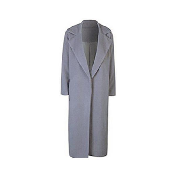 Dámský moderní dlouhý kabát