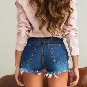 Dámské stylové džínové šortky Zipper