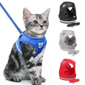 Nastavitelný postroj pro menší psy a kočky