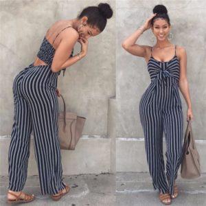Elegantní moderní dámský overal Stripe