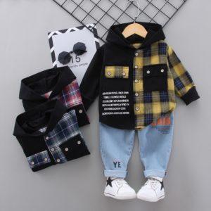 Chlapecký stylový podzimní outfitový set
