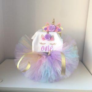 Dívčí narozeninové šaty s tutu sukýnou a čelenkou