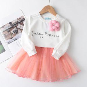 Dívčí mikinové šaty se šifónovou sukní