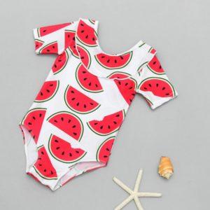 Dívčí jednodílné plavky s potiskem melounků