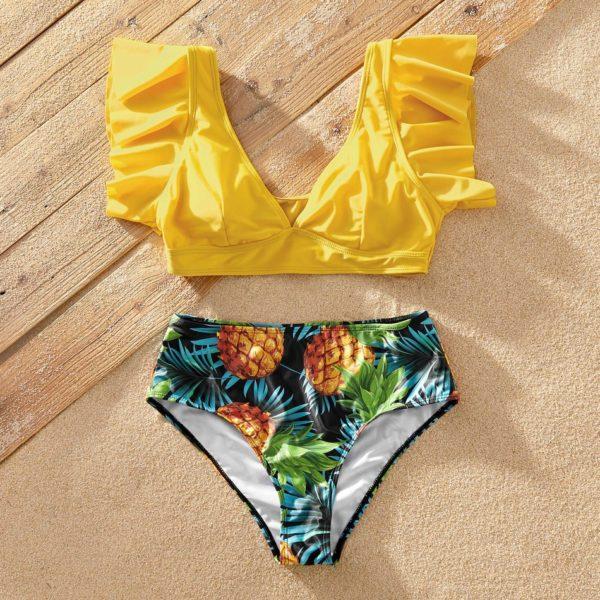 Stylový ananasový set plavek pro celou rodinu