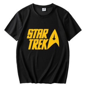 Pánské oversize stylové triko s potiskem Star Trek