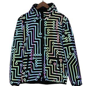 Pánská originální geometrická reflexní bunda