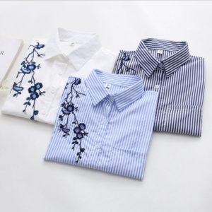 Dámská moderní košile Flower