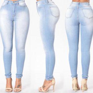 Moderní dámské luxusní džíny Denim