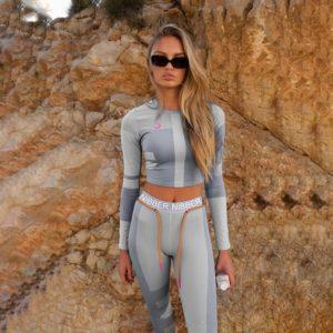 Dámský luxusní stylový fitness set Fitnessfashion