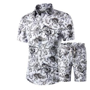Pánský neformální set plážové košile a šortek