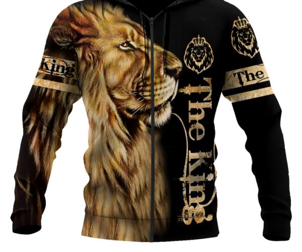 Pánská stylová ležérní mikina s potiskem lva