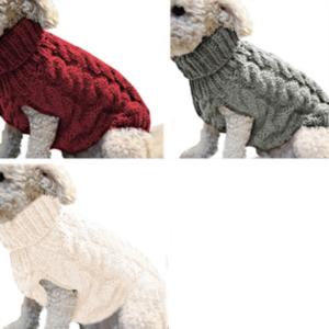 Teplý zimní svetřík pro malé a střední psy