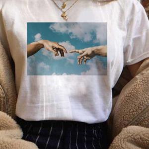 Dámské tričko s potiskem umělecké olejomalby