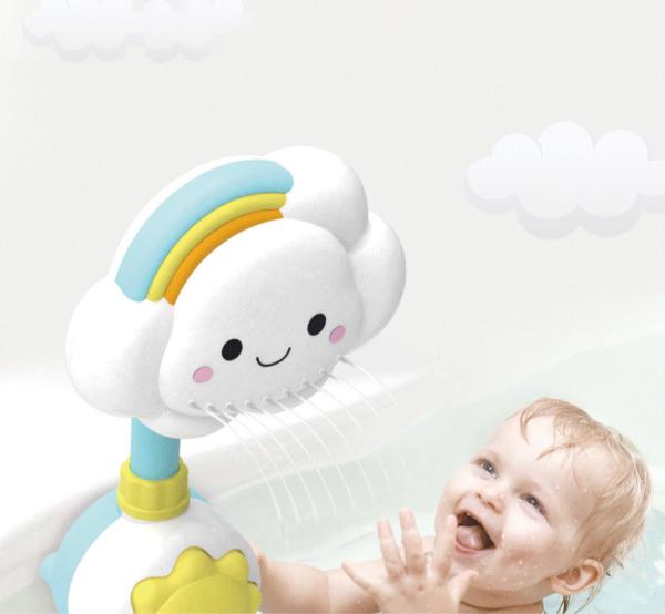 Dětská zábavná sprcha v podobě mráčku s duhou