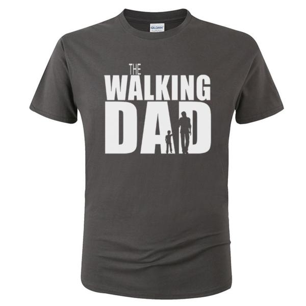 Pánské vtipné tričko Walking Dad bílý potisk